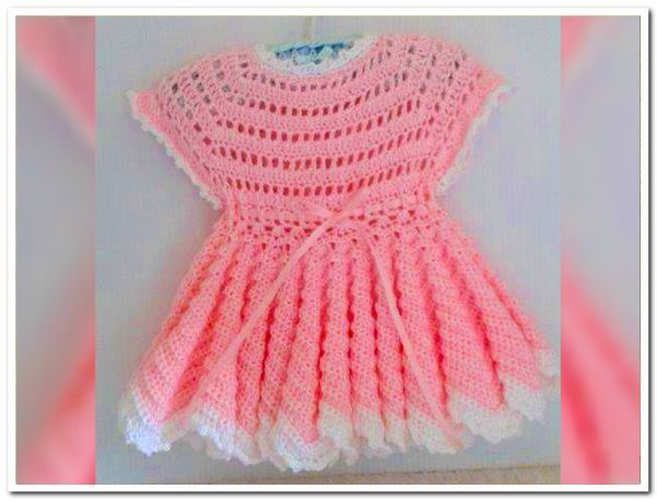 Babies First Crocheted Dress My Handmade Stuff