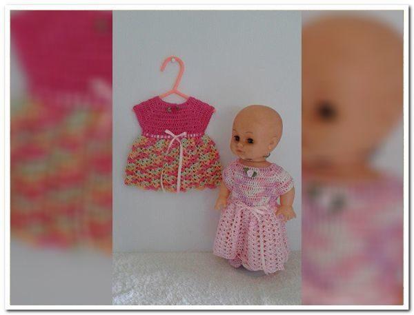 Crochet Dress For Baby Born Dolls My Handmade Stuff